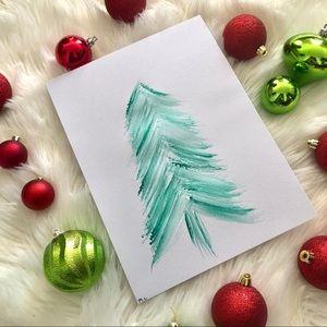 Watercolor Christmas tree print